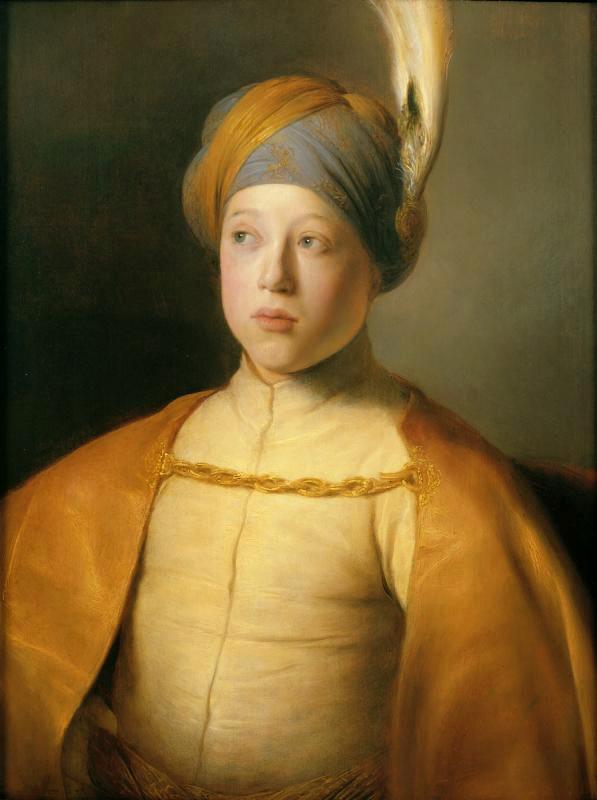 """Ян Ливенс """"Мальчик в накидке и тюрбане (Портрет принца Руперта Пфальцского)"""" 1631"""
