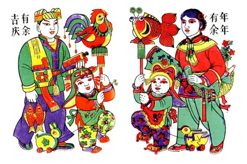 К празднованию китайского Нового года, из собрания Музея Народной графики.
