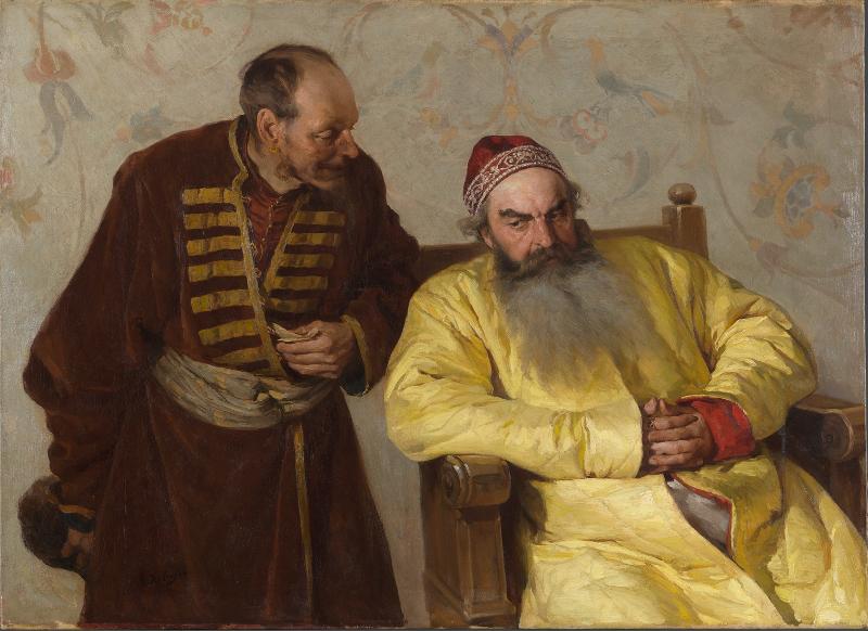 """К.В. Лебедев """"К боярину с наветом"""" 1904"""