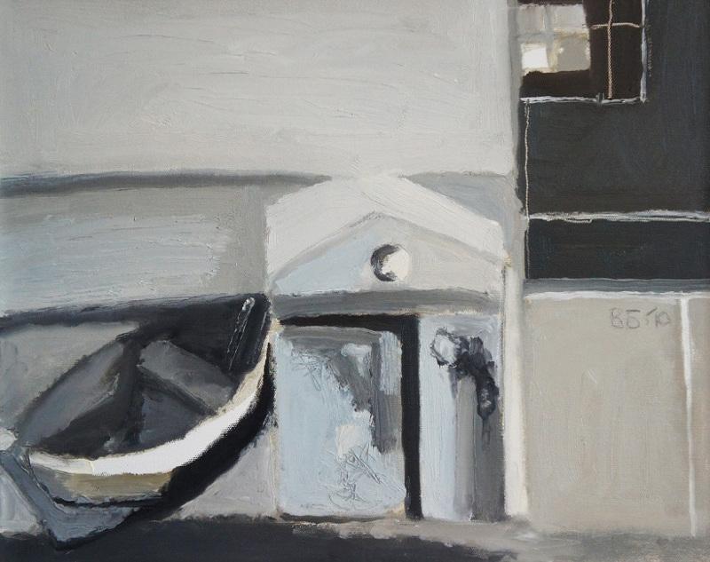 """Валерий Бабин """"Цикл """"Белые ночи"""". Лодка, гараж"""" 2010"""