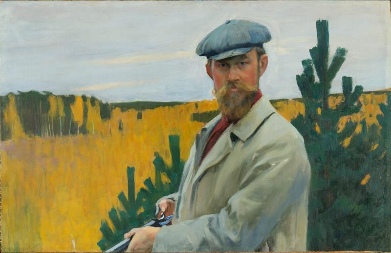 """Борис Кустодиев """"Автопортрет (На охоте)"""" 1905"""