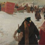"""С.В. Иванов """"Приезд иностранцев. ХVII век"""" 1901"""