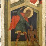 Великомученик Никита, побивающий беса. Вторая четверть XVI века. Новгород