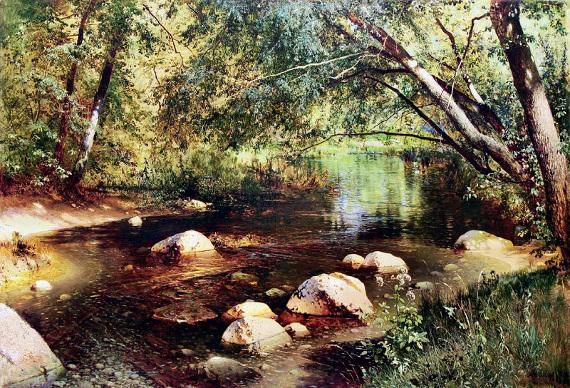 Андрей Шильдер (1861–1919). «Речка в лесу» 1891