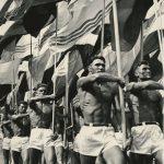 """Лев Бородулин """"Парад. Открытие стадиона в Лужниках"""" Москва, 1956"""
