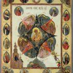Богоматерь Неопалимая Купина. Начало XIX века. Палех