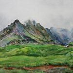 Цикл акварельных работ художницы об Исландии.