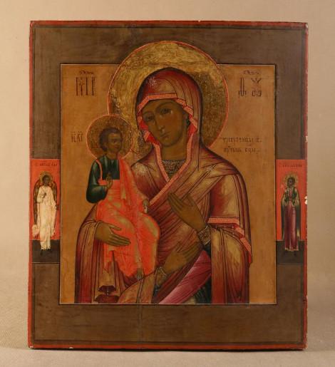 Икона «Богоматерь Троеручица». Россия, 19 век