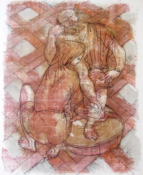 Ханс Эрни «Евриклия омывает ноги Одиссею».