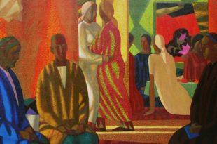 Творческая встреча с художником Азамом Атахановым.