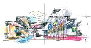 От линии к объему. Архитектурная графика Александра Балабина.