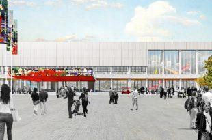 Архитектурная концепция реконструкции здания Новой Третьяковки, разработанная под руководством Рема Колхаса.
