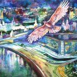 "Светлана Зорина-Фуникова ""Полёт над городом"" 2003"