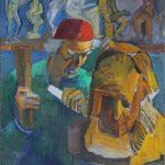 "Николай Никогосян ""Автопортрет. За работой над скульптурным портретом А. Исаакяна"" Конец 1990-х – начало 2000-х"