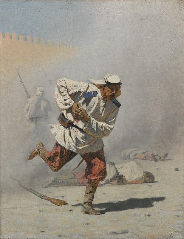 """Василий Верещагин """"Смертельно раненный"""" 1873"""