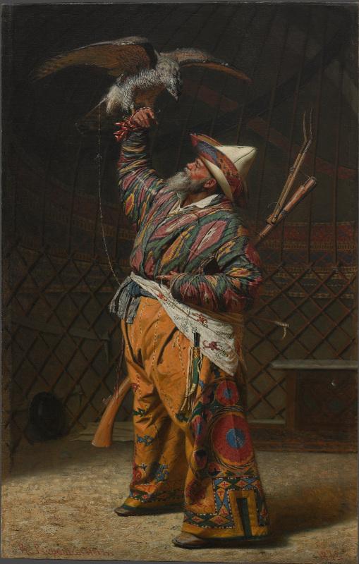 """Василий Верещагин """"Богатый киргизский охотник с соколом"""" 1871"""