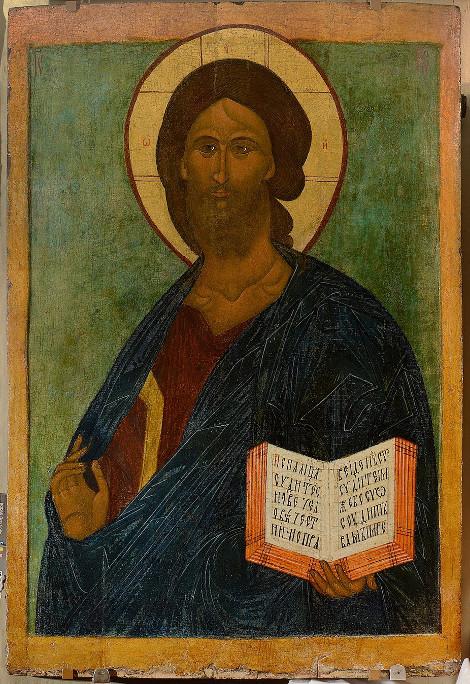 Икона «Спас Вседержитель» 16 век. Собрание Н. и С. Воробьёвых.