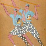 """Нина Анзимирова """"Эскиз костюмов к эстрадному номеру """"Физкульт-танец"""" 1920–1930-е"""