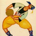 "Николай Фореггер ""Эскиз мужского костюма к татарскому танцу"" 1922"