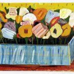 """Алёна Романова """"Цветы на жёлтом фоне"""" 2008"""