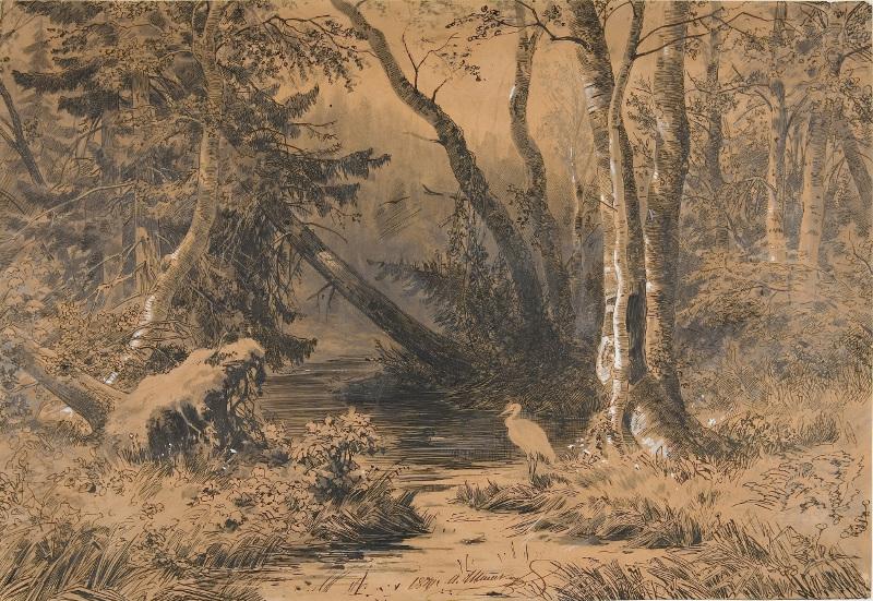 """Шишкин И.И. """"Лесная глушь"""" 1870"""