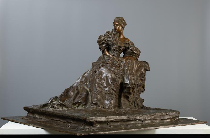 """П.П. Трубецкой """"Сидящая дама. Госпожа Хернхеймер"""" 1897"""