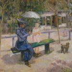 """Михаил Ларионов """"Женщина на скамейке"""" 1902"""