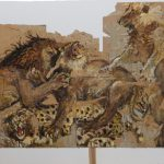 """Валерий Кошляков """"Битва львов с леопардом"""" 1991"""