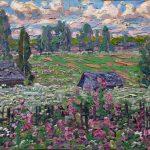 """Давид Бурлюк """"Летний пейзаж"""" 1910-е"""