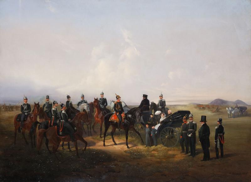 """Н.Е. Сверчков """"Портрет императора Александра II с семьей и приближенными"""" 1856"""