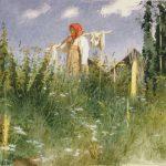 """Крамской И.Н. """"Девочка с бельем"""" 1874"""