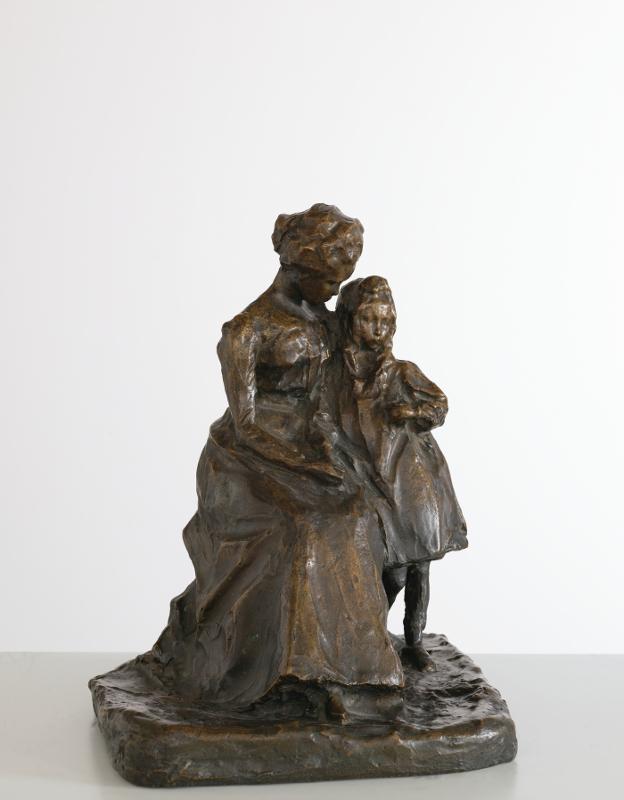 """П.П. Трубецкой """"Неизвестная (Боткина?) с девочкой"""" 1900"""