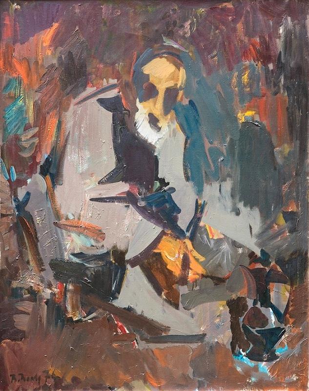 """Валерий Волков """"Портрет старика"""" 1976"""
