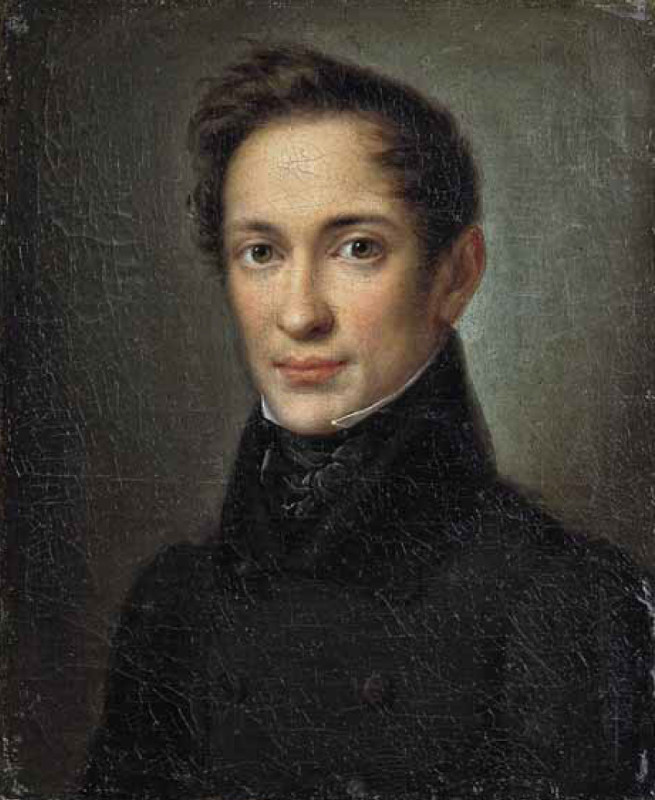 """А. Збруев """"Портрет А.И. Герцена"""" 1830-е"""