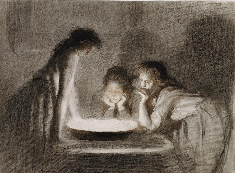 "Крамской И.Н. ""Святочное гадание"" Конец 1870 - начало 1880-х"