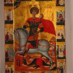 Великомученик Георгий на коне, в житии. 1610 год