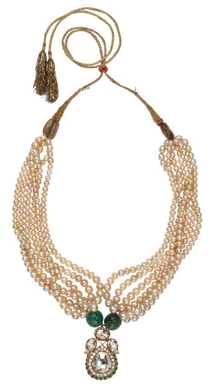 Индийское ожерелье, сделанное из жемчуга Персидского залива. Индия, около 1900
