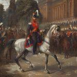 """Ф. Шульц """"Портрет императора Александра II на параде в Берлине в 1856 году"""" 1857"""