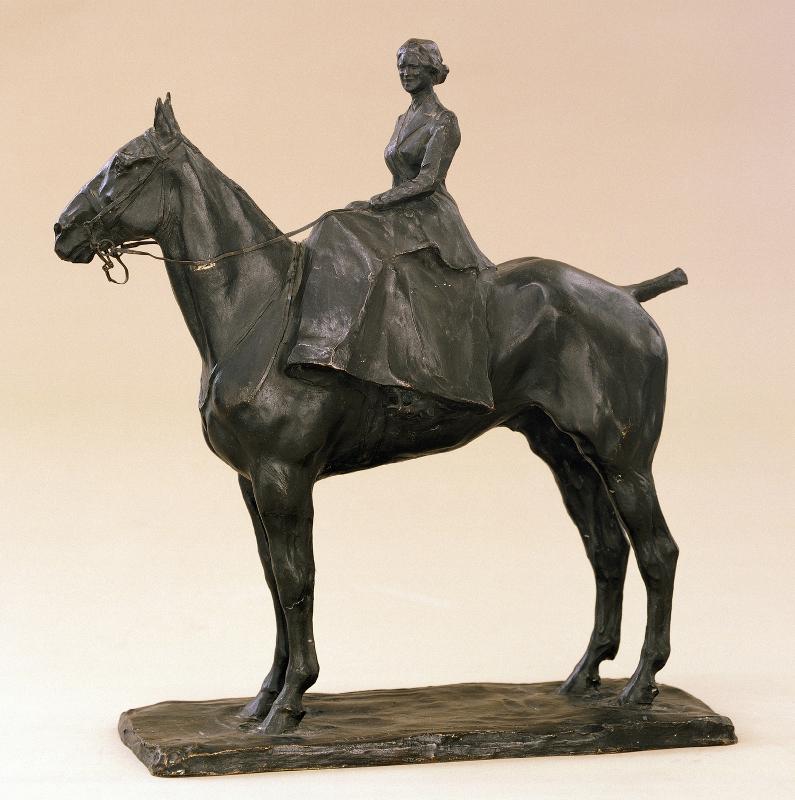 "П.П. Трубецкой ""Ольга Николаевна Якунчикова на лошади"" 1913"