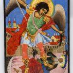 Архангел Михаил изымает душу богатого. Вторая половина XIX века