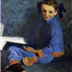 """Николай Пономарев """"Портрет Наташи"""" 1954"""