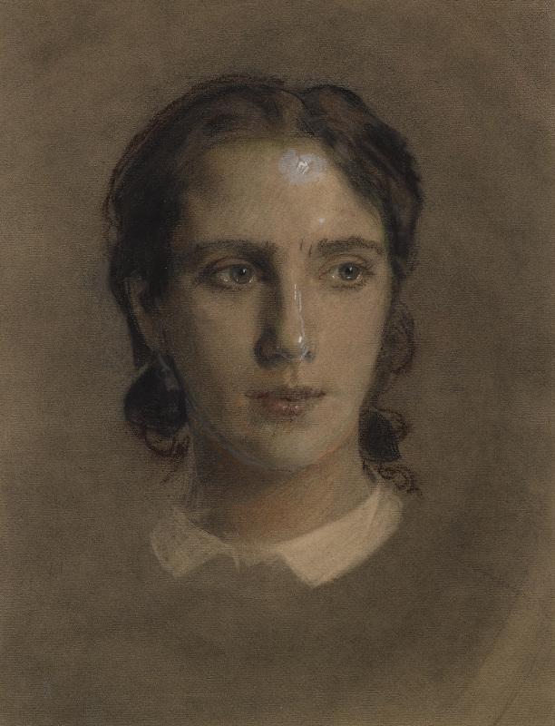 """Крамской И.Н. """"Портрет жены"""" 1863"""