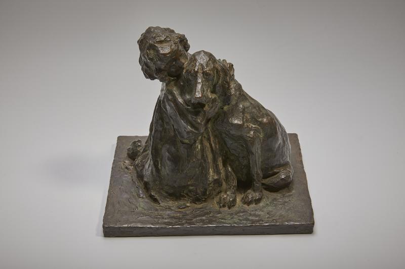 """П.П. Трубецкой """"Девочка с собакой (Друзья)"""" 1901"""