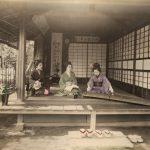 """Неизвестный автор """"Три девушки репетируют музыкальный номер"""" 1880-1890-е"""