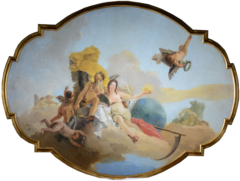 """Джованни Баттиста Тьеполо """"Время, открывающее Истину"""" Около 1745"""