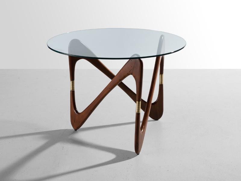 Кофейный столик c фигурным основанием, 1950-е (приписывается Чезаре Лакке)