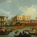 "Джованни Антонио Каналетто ""Возвращение Бучинторо к молу у Дворца дожей"" Около 1730"