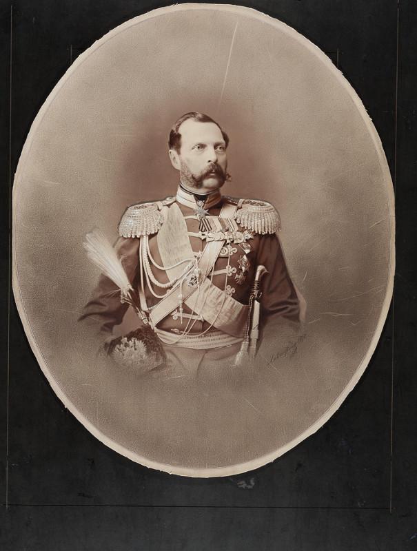 """Сергей Левицкий """"Портрет императора Александра II"""" 1875"""