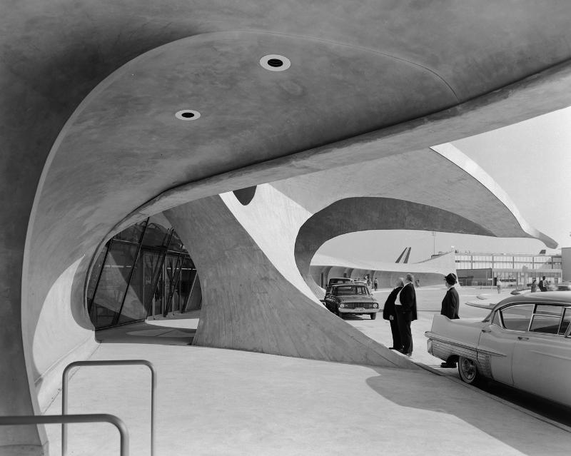 """Эзра Столлер """"Терминал TWA в аэропорту Джона Ф. Кеннеди"""" 1962"""