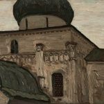 """Николай Рерих """"Юрьев-Польский. Георгиевский собор"""" 1903"""